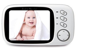 3.2 inch LCD Wireless Video Baby Camera Monitor Night Vision Nanny Security Camera Temperature Monitoring VOX Babysitter