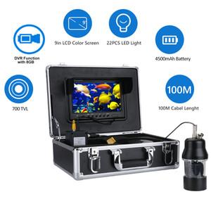 100M 9 pulgadas LCD Fish Finder Submarino pesca cámara grabadora DVR 360 grados
