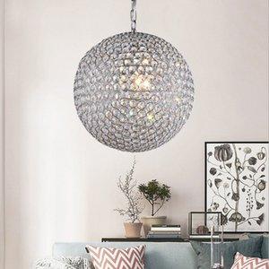 الفاخرة الحديثة غلوب الكرة الكريستال مطرز قلادة الأنوار بريقا كريستال luminarias الفقرة صالون هاينينغ الإضاءة ل غرفة المعيشة الطعام
