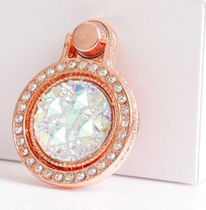 Barretta del diamante del supporto dell'anello bling glitter cassa dello specchio per l'Universal con il sacchetto del opp DHL libero