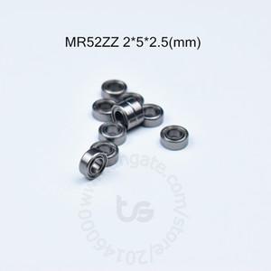 MR52ZZ 2 * 5 * 2.5 (mm) 10piecesbearing trasporto libero ABEC-5 Metal Sealed Mini cuscinetto MR52 MR52ZZ portante in acciaio cromato in miniatura