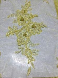 De alta calidad telas africanas del cordón del color del melocotón Niza francés bordado de lentejuelas tela de encaje de tul para el partido nigeriano Dres