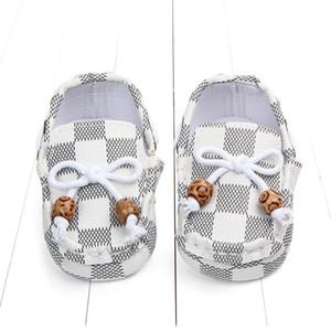 Infant nova moda da manta Bebés Meninos Meninas Meninos Primeira Walkers Criança considerável clássico Sports Anti-derrapante macio Sole Shoes Sneakers Prewalker