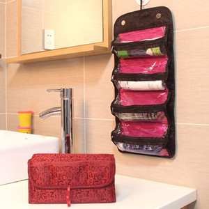 Fashion Lovely  Bag Organiser Hanging Toiletries Pockets Compartment Travel Beauty Case Jewelry Bags Neceser Maquillaje