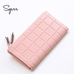 SGARR Fashion Women Purse PU Portafogli in pelle Donna Designer lungo Zipper Phone Tasca Causale Portamonete per ragazze