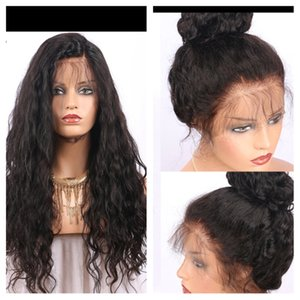 Gluless virgin human hair full lace wig&front lace wig water wave for blaack women with baby hair no tangle no shedding