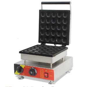 Commercial Antiadhésif 110v 220v Électrique 25 pcs Mini Poffertje Néerlandais Crêpes Machine Maker Baker avec Pâte Distributeur LLFA