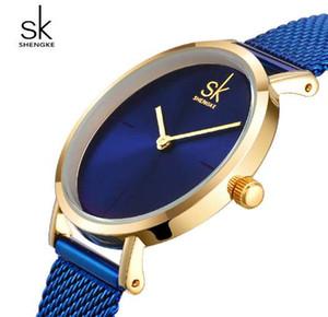 Shengke наручные часы женщины мода стали кварцевые часы браслет часы Relogio Feminino 2018 SK творческий женские часы #K0043