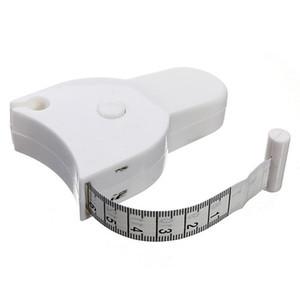 Echootime aptitud precisa de grasa corporal del calibrador de medición del cuerpo gobernante de la cinta métrica Mini cinta métrica blanca linda del envío de la gota HG-1227