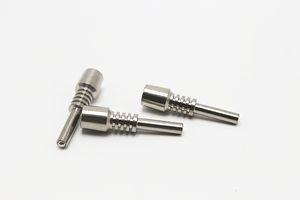 Titanyum İpucu Nektar Toplayıcı Kubbesiz Titanyum Nail 10mm GR2 Ters Sınıf Dab Straw Konsantre Dab Sondaj için 2 Ti Çiviler