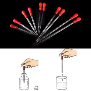 Dayanıklı Uzun Cam Deney Tıbbi Pipet Damlalık Transferi Pipet Lab Malzemeleri Ile Kırmızı Ovmak 9 cm / 10 cm / 12 cm / 15 cm / 20 cm