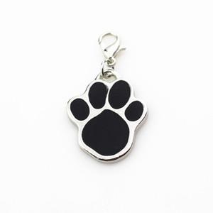 Yeni 20 adet / grup köpek paw dangle charms asılı istakoz kapat charms diy takı aksesuarları yüzen takılar