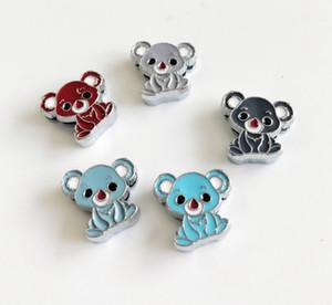 10pcs 8mm smaltato colore misto Koala diapositive perline perline fai da te accessori misura 8mm colletto cinture bracciali