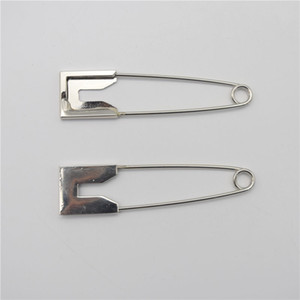 5pcs / lot 1.9 * 8cm Super Large Stainless Steel Safety Pins Brooch Pins For DIY Jeweler Making