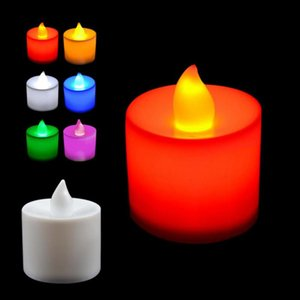 Plastic Candle Shape LED Flameless Candles Light For Romantic Wedding Party Holiday Decoration