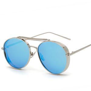 Мода круглые солнцезащитные очки европейский стиль бренд дизайнер поляризованные солнцезащитные очки для мужчин женщин толстые края V очки