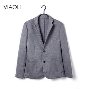 VIAOLI 2017 новый случайный костюм мужской молодежное пальто бизнес пальто большой размер сплошной цвет тонкий хлопок костюм повседневная одежда одного мужчины