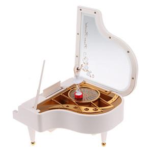 Boîte à musique Mécanique Type de Rotary Ballerina Classique Fille Au Piano pour Enfants Cadeaux D'anniversaire Figurines Miniatures