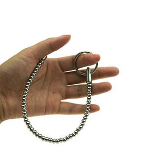 Bolas de acero inoxidable electro Sexo sondeo uretral catéter del pene Plug Uretra Estimular Dilatador castidad Electro choque de accesorios Juguetes sexuales