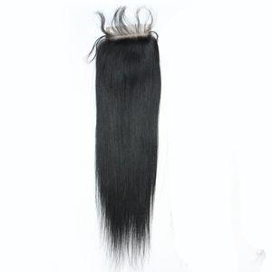 """130% péruvien cheveux humains vierges haut de la dentelle fermeture 4 """"x4"""" brésilien corps vague dentelle fermeture pièce naturel noir doux remy cheveux 12inch"""