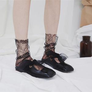 Les femmes de la mode évider Shock Sock Pile Heap Fishnet Socks Mesh Short Socks