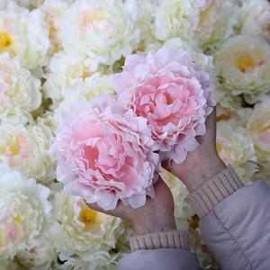 Nouvelles Artificielles Fleurs En Soie Pivoine Têtes De Fleur Fête De Mariage Décoration Fournitures Simulation Faux Fleur Tête Décorations Pour La Maison 15 cm