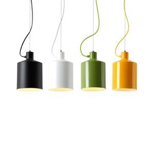 Современные E27 Подвесные Светильники Красочные Алюминиевый подвесной светильник D17 / 25 см тень Столовая Бар Кабинет Светильник Для Домашнего Освещения F021