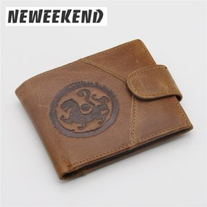 NEWEEKEND Short 8065 Men Wallet Genuine Coin Leather Vintage Wallets High Small Quality Purse Jshcn
