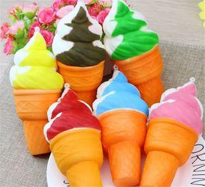 Gelato Jumbo kawaii Cute Squishy Ciondolo lento in aumento Cinghie per cellulare Charms Icecream Bread Queeze Kid Toys