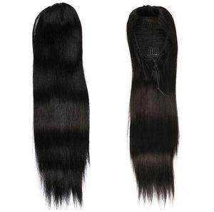 Прямой хвост парики человеческих волос, европейские Remy человеческих наращивание волос Ponytail хвост человеческих волос хвостики