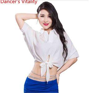 2018 Top Dança do Ventre Batwing Costume mangas Oriental Dance Competition Desempenho Prática shirt roupas Outfits Garmen