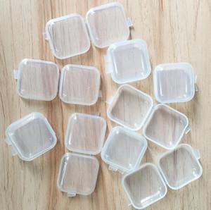 미니 투명 플라스틱 작은 상자 보석 귀마개 스토리지 박스 케이스 컨테이너 구슬 메이크업 지우기 주최 선물 SN751
