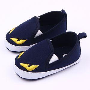 Горячие продажи мультяшный персонаж стиль малышей детские холст обувь детские мягкие нижние первые ходунки Bebe противоскользящая Детская обувь