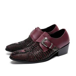 Christia Bella Plus Size 38-47 Full Leather Grano Zapatos de vestir de moda Cómodos Hecrafted 2018 Hombres Zapatos de marca Oxfords