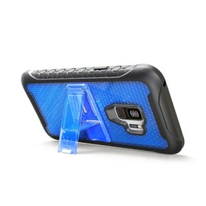 Para iPhone X Soporte Robot a prueba de golpes Pc Tpu 3 en 1 Patrón de fútbol híbrido Armor Case para iPhone X caja del teléfono