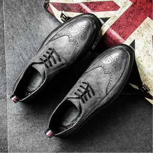 새로운 도착 Bullock 디자인 남자 고전적인 사업 형식적인 신발 가르킨 발가락 가죽 신발 남자 옥스포드 복장 dfv78