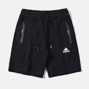 Europa und die Vereinigten Staaten klassische Marke hochwertige dreidimensionale Druck Stretch-Baumwolle Shorts nahtlose Reißverschluss Herren Jogginghose