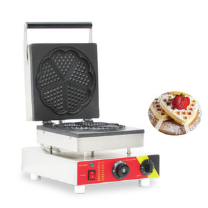 BEIJAMEI 110v 220v Comercial antiadherente Waffle Baker, cafetera eléctrica de la galleta en forma de corazón que hace la máquina para la venta