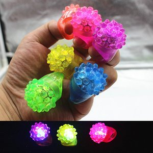 Nouvelle mode clignotant Bubble Ring Rave Party Clignotant Doux Jelly Glow anneau Cool Led Light Up Party Supplies livraison rapide