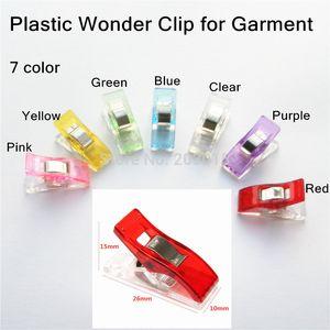 (7 farbe) 500 stücke PVC Kunststoff Clover Wonder Quilt Quilten Bindung Klemmen Clips für Patchwork Overlocker Nähen DIY Handwerk