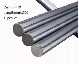 10 teile / los 10x900mm Dia 10mm lineare welle 900mm lange gehärtete wellenlager verchromt stahlstange bar für 3d drucker teile cnc router