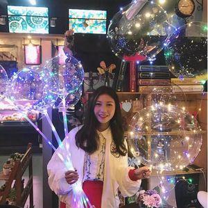 Ballon à bulle de BOBO clair de ballon à bulles d'air de LED lumineux clair avec le fil de cuivre mené de bande pour l'anniversaire Weedding des jouets de Noël