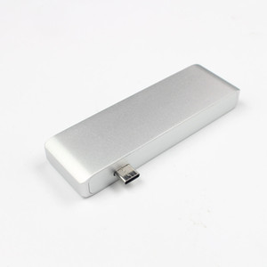 Type-C to USB 3.0 SD TF Card Reader Type C Combo with PD Converter Converter Multi-Function Silver