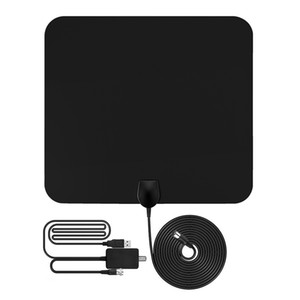 1080P Antena Digital HDTV Antenna 50 Miles Range Indoor Flat TV Antenna Con amplificador de señal USB