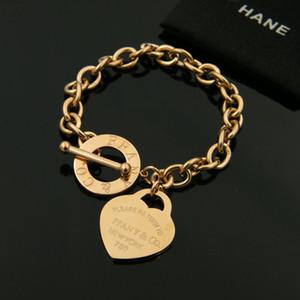 Bracelet à la mode en acier inoxydable bijoux, bracelet coeur, homme et femme bracelet bracelet livraison gratuite