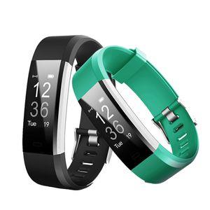 ID115HR Plus banda inteligente Pulsera Monitor de frecuencia cardíaca Podómetro Rastreador de fitness Smart Wristband para iPhone X Samsung Galaxy Note 9 8 S9