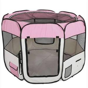 2018 도매 57 인치 휴대용 Foldable 600D 옥스포드 천을 메쉬 애완 동물 Playpen 펜스와 여덟 패널 59cm 94cm 개 야외 여행