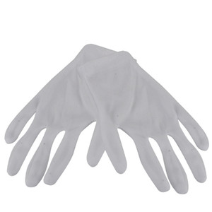 12 Pairs White Cotton Work Gloves Hand Protection Safety Antistatic Nonslip Industrial Gloves for Electronic Testing Computer