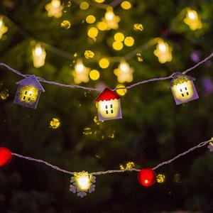 Kar tanesi Noel Çorap LED Dize Işıklar Noel Işıkları 2.5 m Noel Süslemeleri Tatil Düğün Parti Dekor