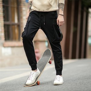 Wholesale NEW Joggers Pants Cotton for men Trousers Sport Jogging Pants with side pockets Hip Hop Gym Dance casual pants